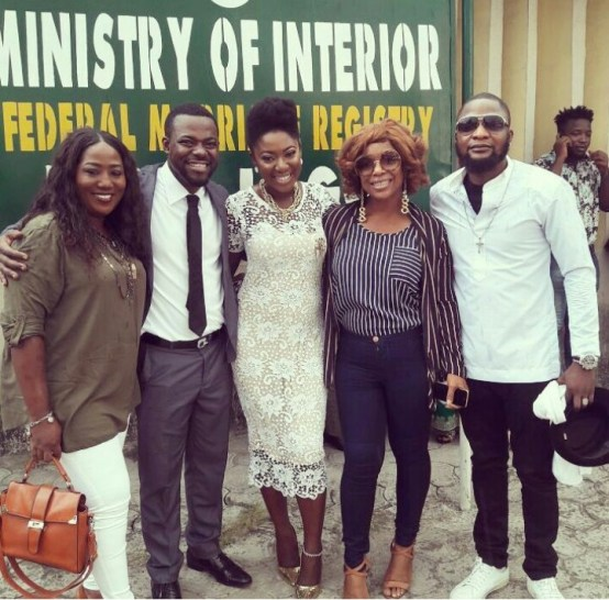 Yvonne Jegede and Abounce's court wedding