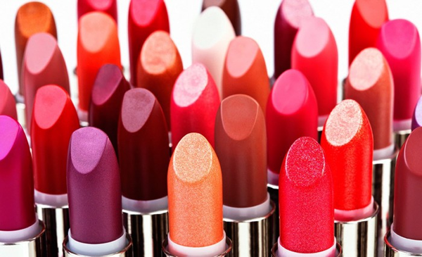 Different shades of lipstick
