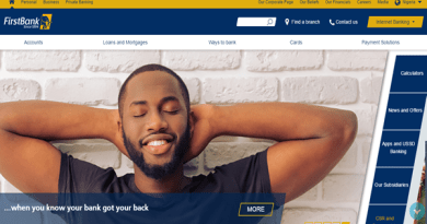 The new clean and functional FirstBank Homepage