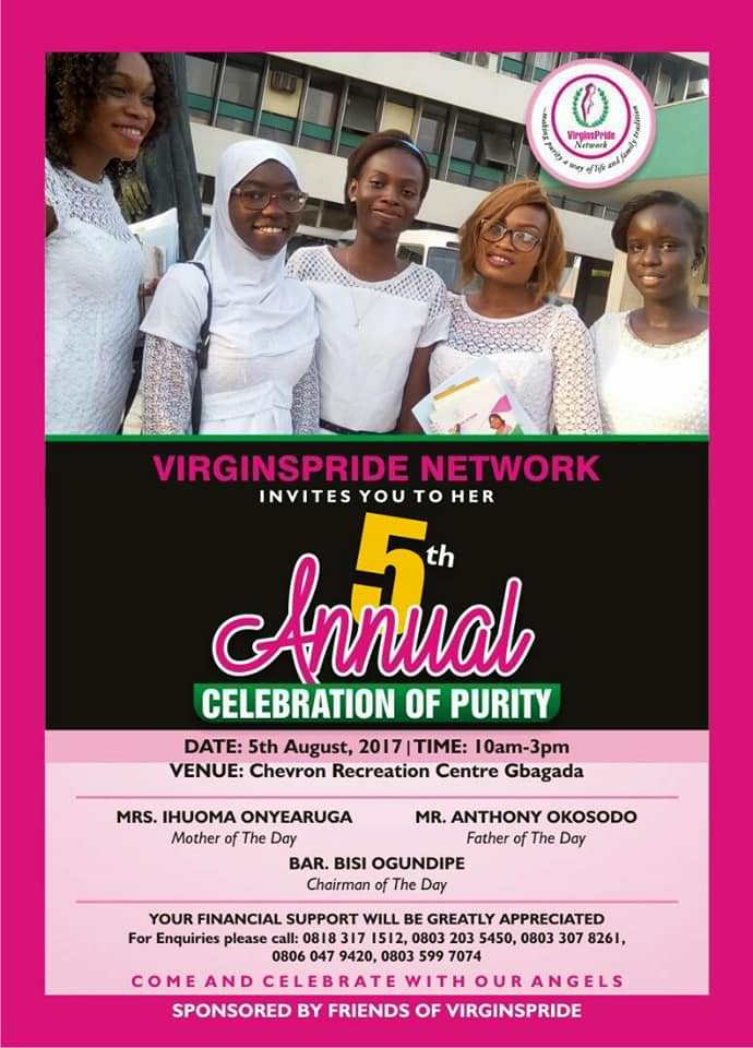 VirginsPride Network 5th Annual Celebration of purity