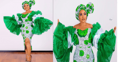 Mercy Aigbe Stuns In Independence Inspired Outfit