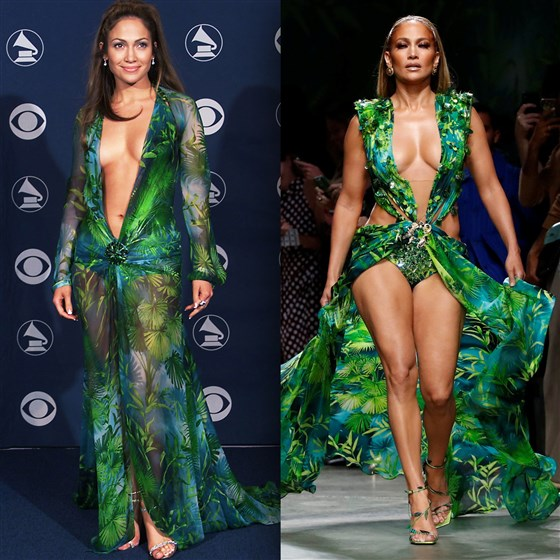 Iconic Green Versace Dress