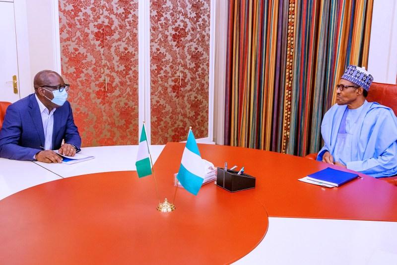 Buhari Receives Obaseki
