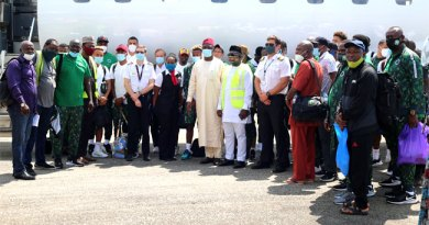 Super Eagles Arrive Sierra Leone