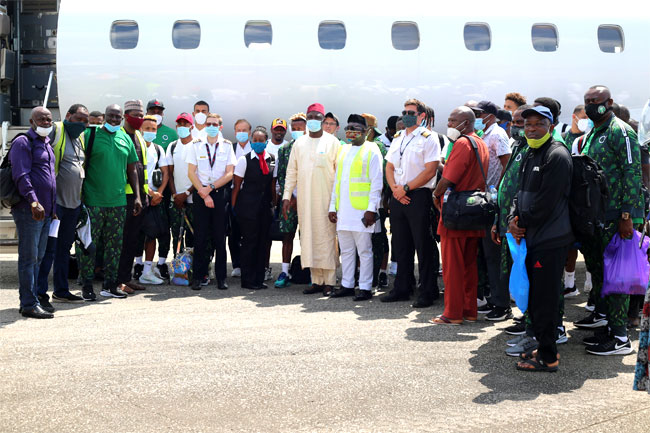 Super Eagles Arrive Sierra Leone