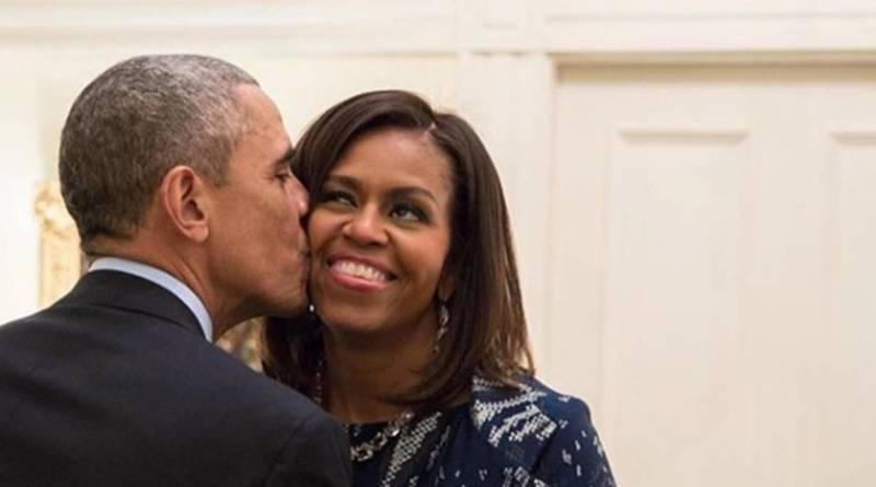 Barack Obama Celebrates Wife