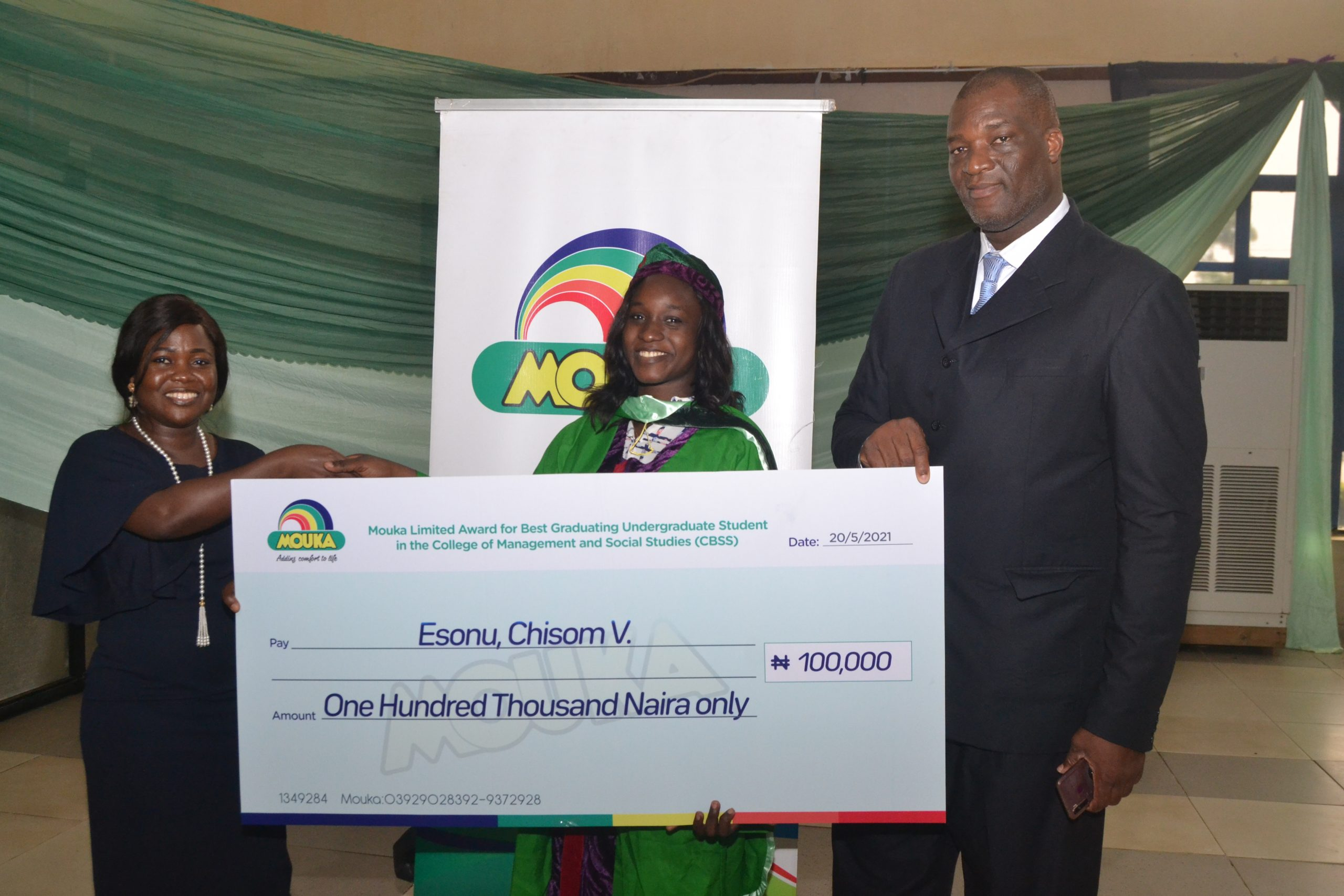 Mouka Rewards Best Graduating Students Of Covenant University