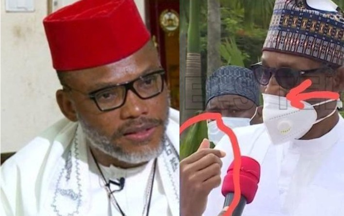 "Kanu Shares New Photo Of ""President Buhari's Crumbling Nose"""