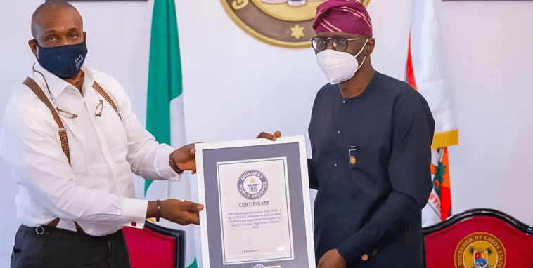 Sanwo-Olu Receives Guinness World Records Certificate