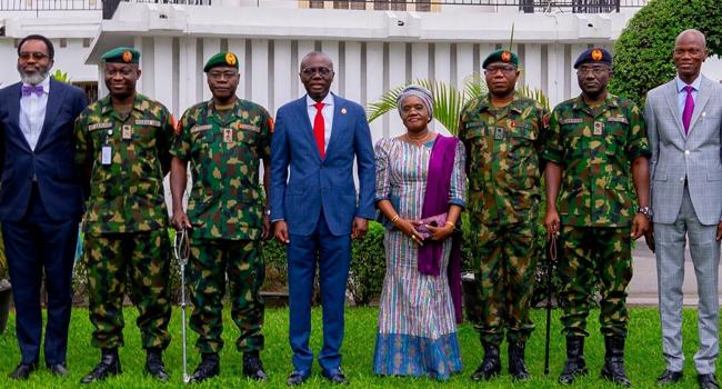 Army Chief Visits Sanwo-Olu