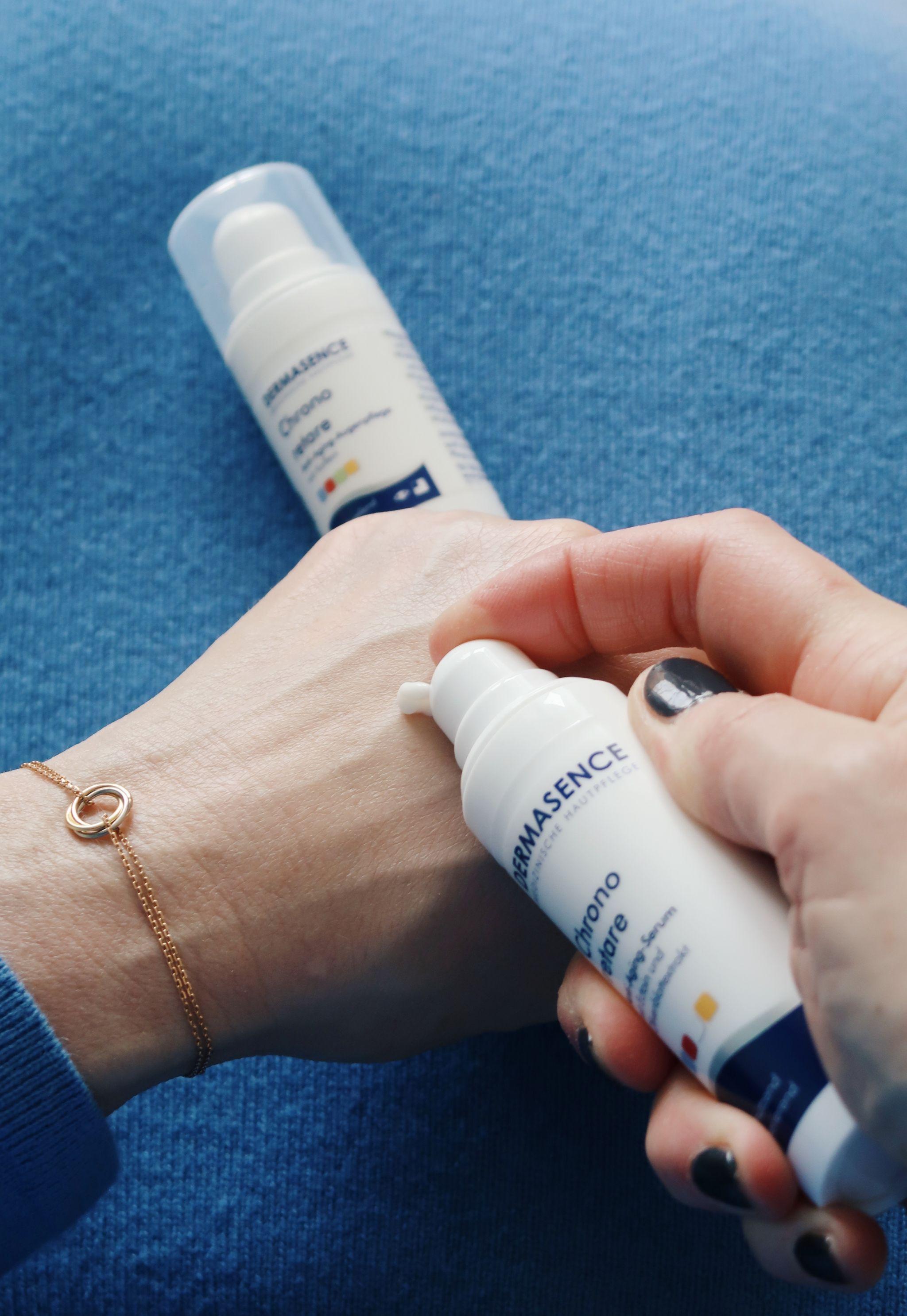 glamupyourlifestyle dermasence chrono retare augencreme serum Erfahrungsbericht empfindliche-Haut Anti-Aging-Creme