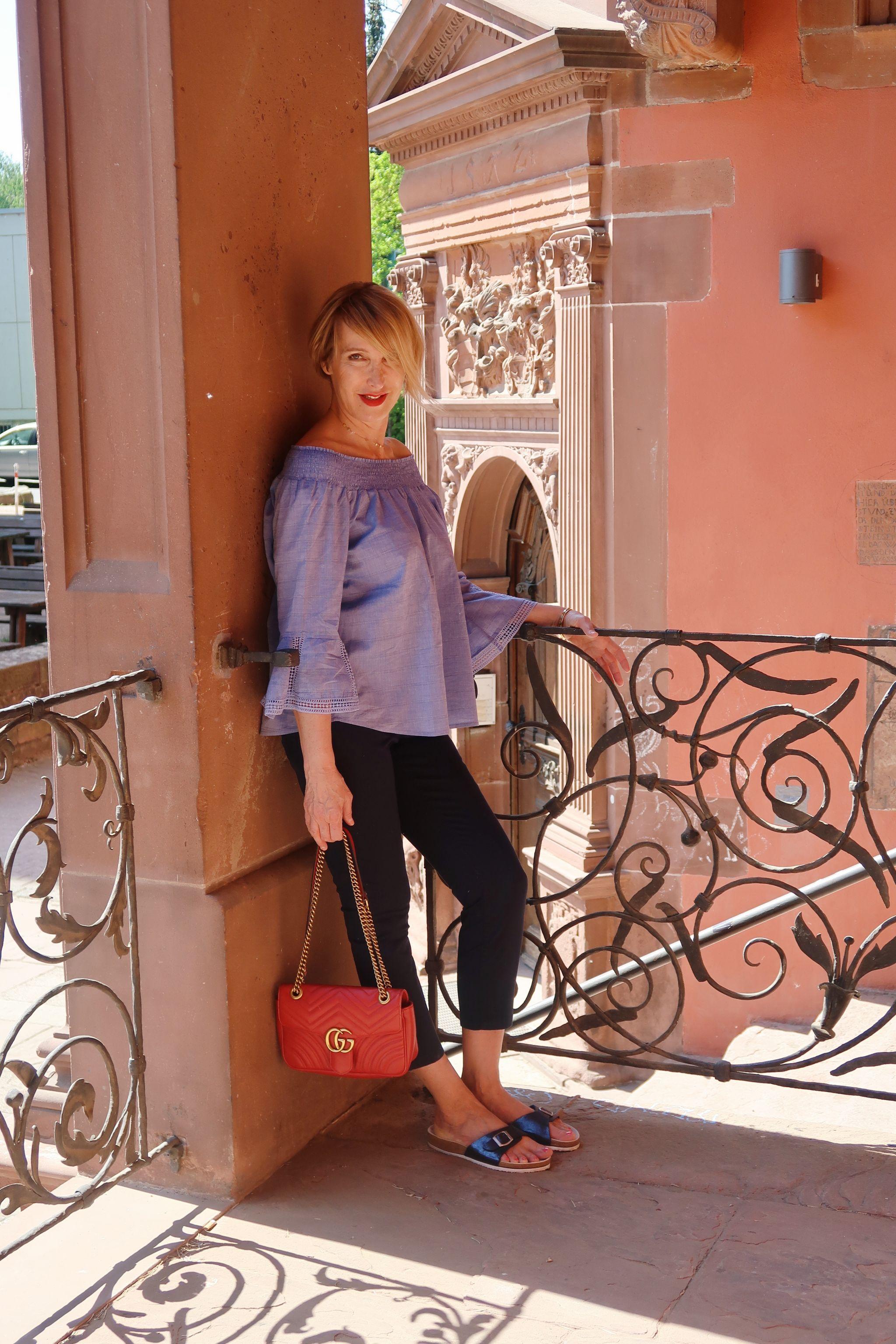 glamupyourlifestyle tchibo-kollektion luftig-leger tchibowoche carmenbluse leinenhose ue-40-mode ü-40-blog
