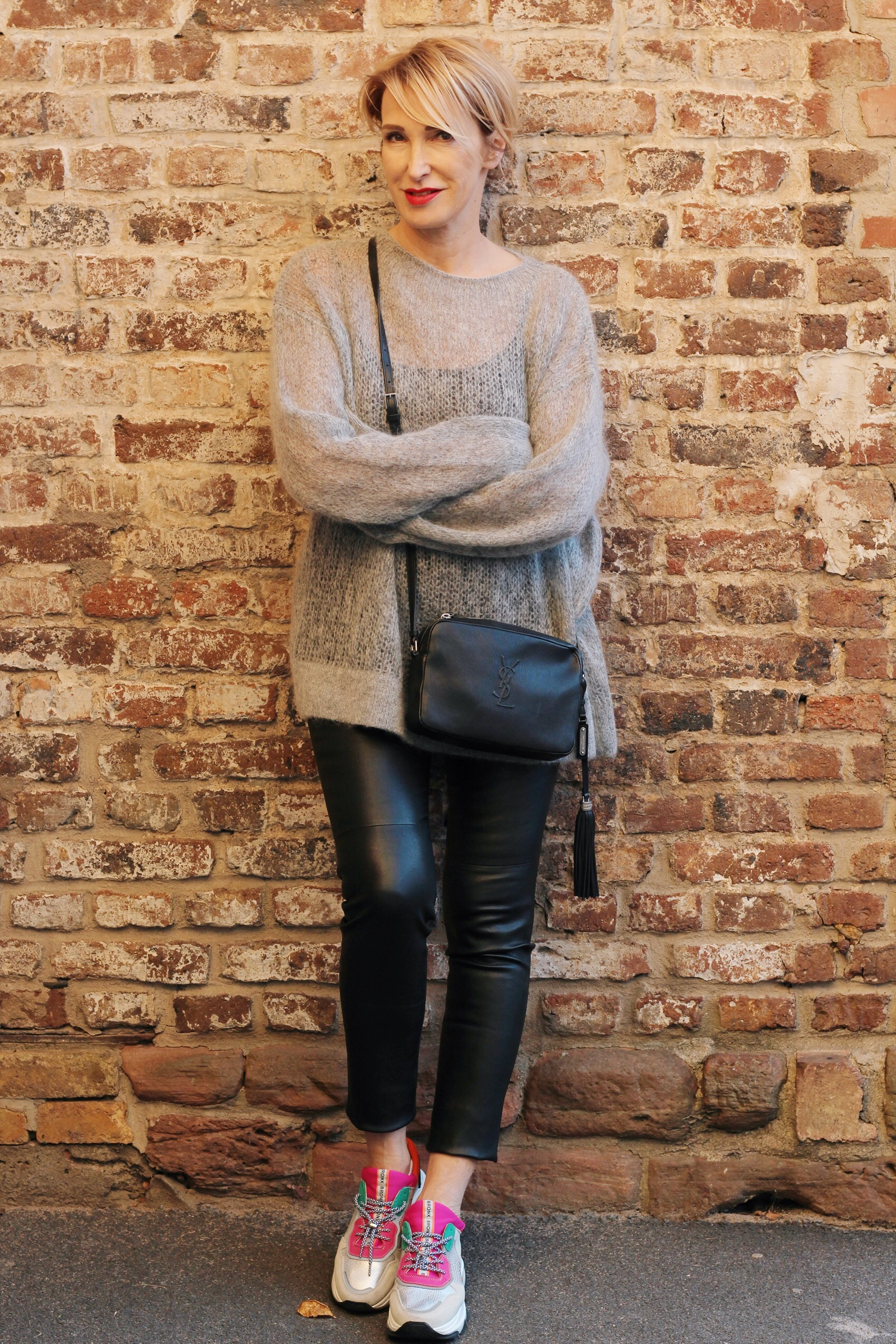 glamupyourlifestyle lederleggings lederhosen sneakers Winter-Outfits ue-40-blog ue-50-blog ü-40-blog ü-50-blog