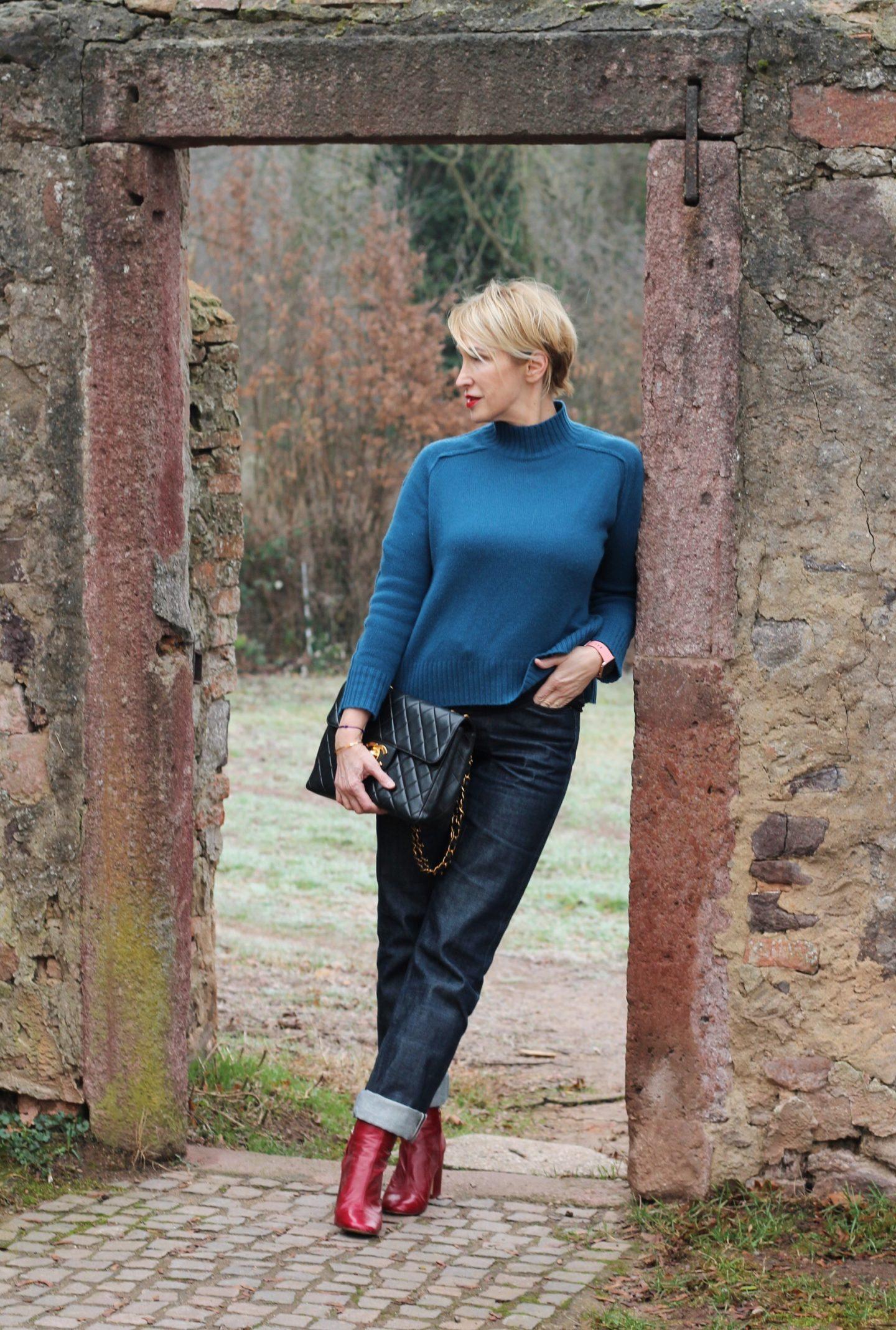 glamupyourlifestyle rollkragenpullover Kaschmir Kaschmir-Pullover Chanel-Vintage ü-40-blog ü-50-blog