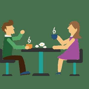 couple à table