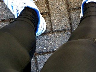 Outing in meiner Familie mit Nike Swift Tights draussen