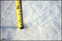Chute de neige quantifiée. (Mercier, Québec, janvier 2013)