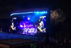 Quand Muse a droit à des feux d'artifice gratuits! (Parc Jean-Drapeau, Québec, août 2017)