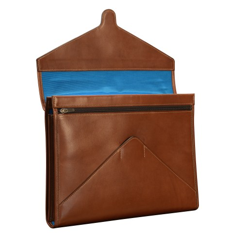 Hand-burnished-espresso-All-Leather-Flapover-Folderholder-with-california-blue-lining.3