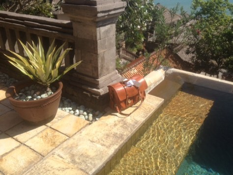 Paul Theroux's Natural Flaptop Bag in Bali