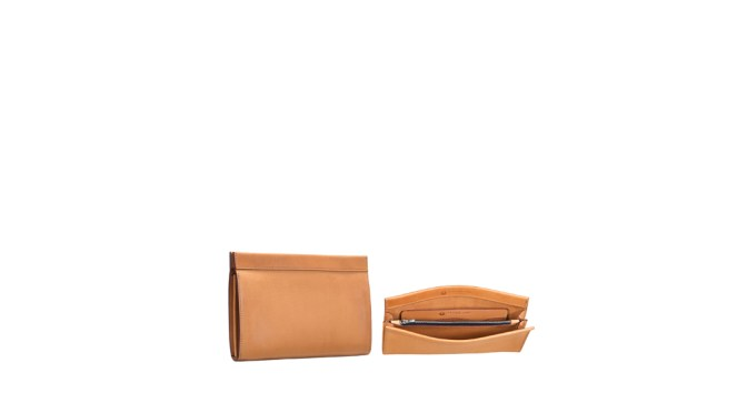 836489419d341 Leather Clutch with Magnetic Closure