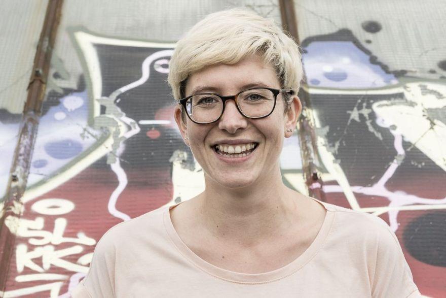 Das Bild zeigt Juliane Richter, Teammitglied Festival Stadttfinden
