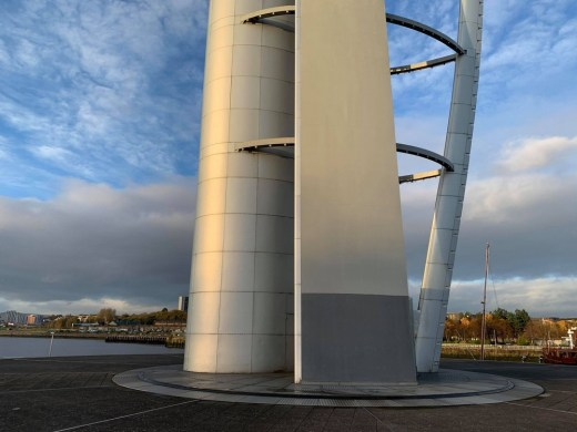 Glasgow Tower building base