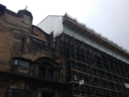 Glasgow Mac building scaffolding