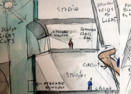 Reid Building sketch