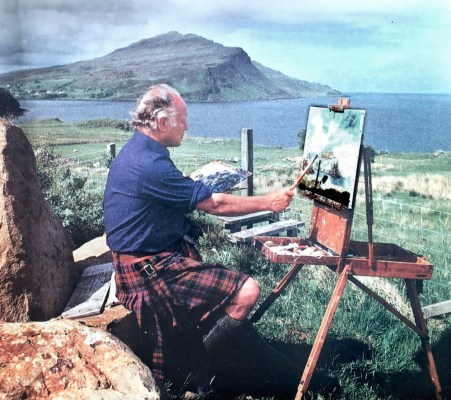Admiral Sir Roddy Artist in Western Isles of Scotland