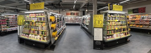 M&S Port Glasgow shop interior