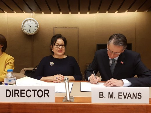 Ivonne Higuero, Director of Forest, Land and Housing Division, UNECE  and Professor Brian Evans