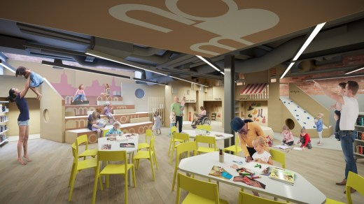 Paisley Learning and Cultural Hub kids play area