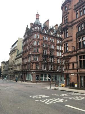 empty Glasgow streets due to Coronavirus pandemic