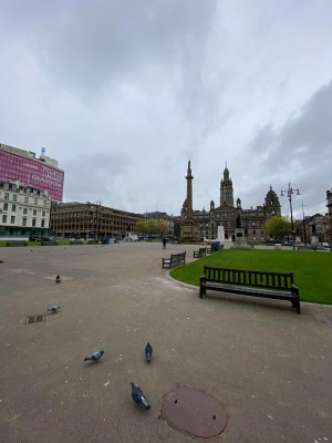 George Square Glasgow empty due to Covid-19 crisis