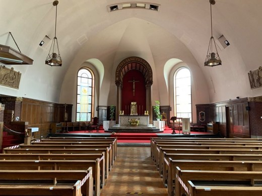 St. Anne RC Church Dennistoun Glasgow building interior