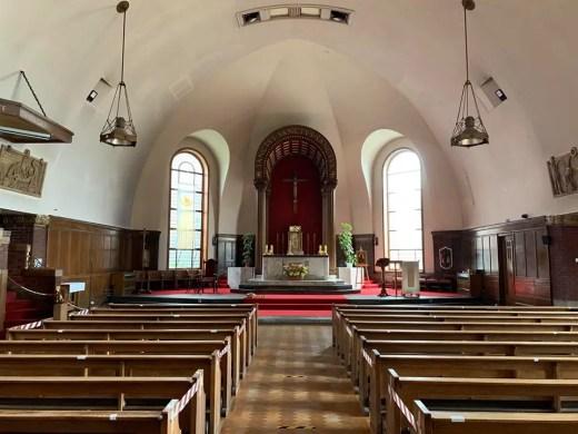 St. Anne RC Church Dennistoun Glasgow building interior