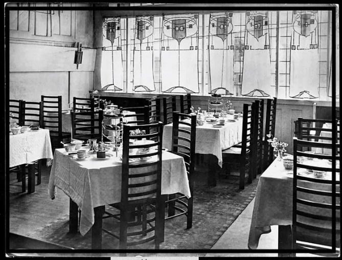 Willow Tea Rooms Glasgow building interior 1903