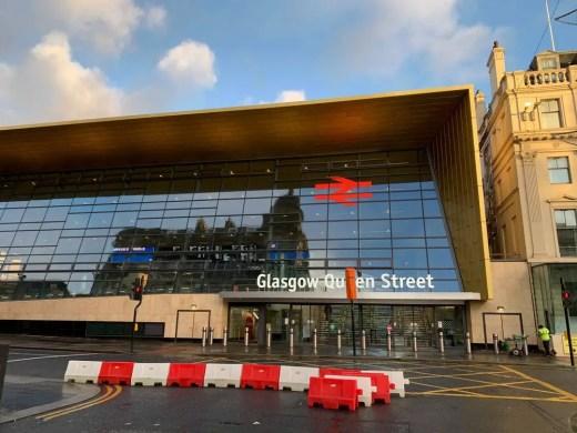 Queen Street Station Glasgow building facade