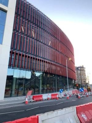 Glasgow University building facade construction