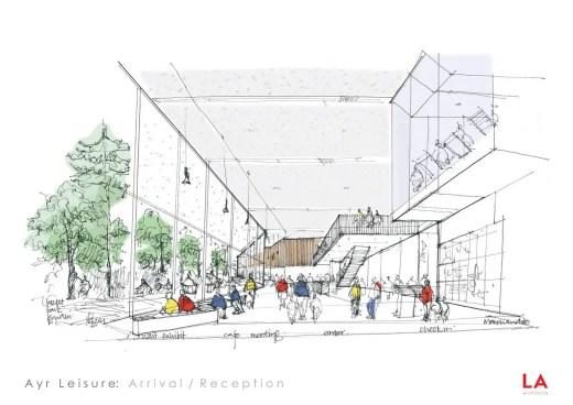 New Ayr Leisure Centre Building interior