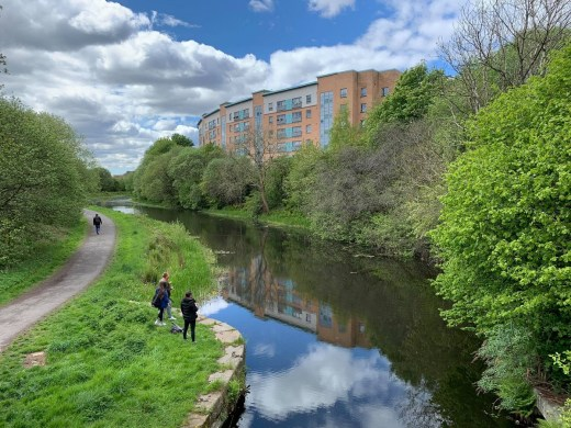 Forth And Clyde Canal housing North Glasgow