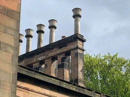 Lilybank House Glasgow chimneys