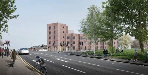 Mosspark Boulevard in Glasgow housing design