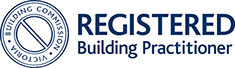 "registered building practitioner victoria building commision logo - ""...gave me the confidence to go ahead with my purchase!"""