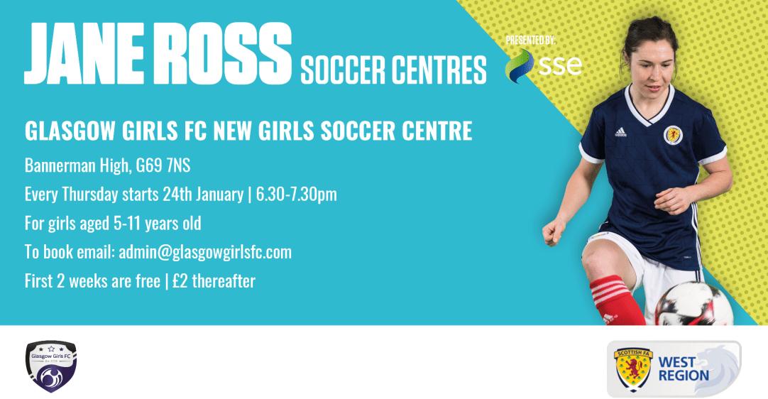 Glasgow Girls Soccer Centre Jan 2019