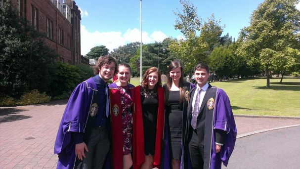 The exec at Dumfries with CUCSA President Rebecca