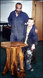 Photo: Phil and Billy: wood carvers