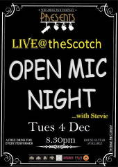 Photo: open mic the scotch.