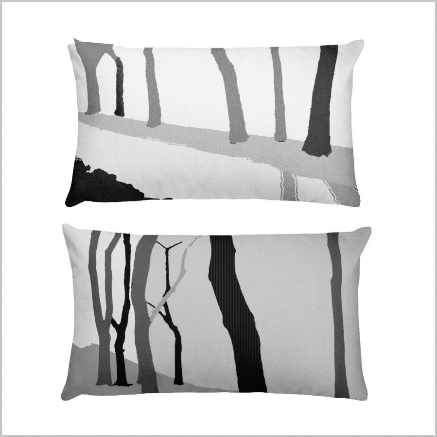 Abstract design based on forest trees